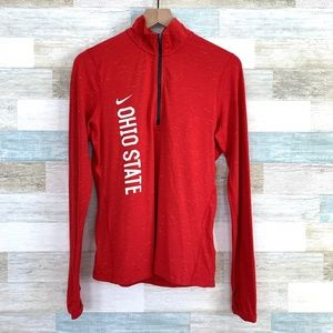 Ohio State Buckeyes 1/4 Zip Pullover Red Nike